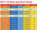 Changes in School Times for 2017-18 School Year